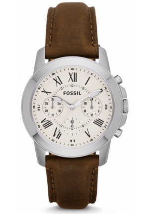 Grant Chronograph Dial Brown Leather Men's Watch