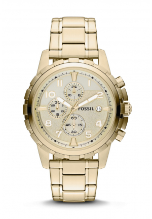 FOSSIL DEAN GOLD TONE CHRONOGRAPH WATCH