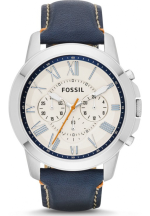FOSSIL FS4925 MEN'S GRANT CHRONOGRAPH LEATHER WATCH 44