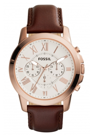 Fossil Men's Grant Chronograph Leather Watch