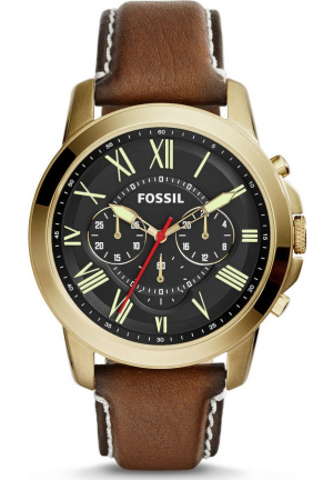 FOSSIL GRANT MEN'S BROWN WATCH 44MM
