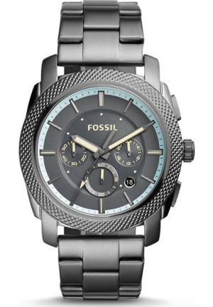FOSSIL MACHINE CHRONOGRAPH GUNMETAL WATCH 45MM