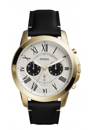 Fossil Analog Off-White Dial Men's Watch