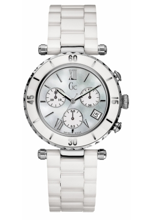 GC Women's Chronograph White Ceramic Bracelet 38mm