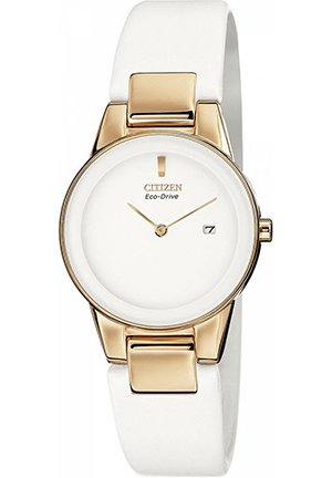 Women's White Leather Strap 30mm