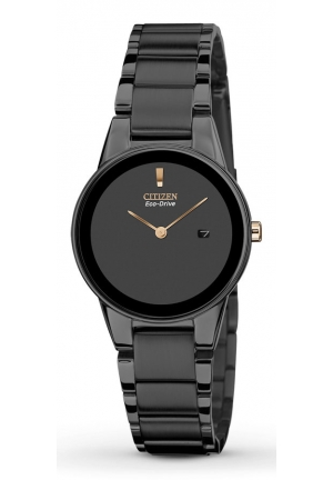 CITIZEN 'Axiom' Black Stainless Steel 30mm