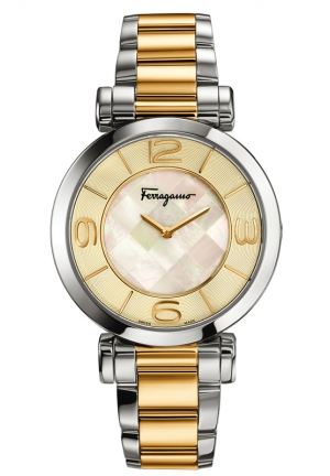 GANCINO DECO Analog Display Quartz Two Tone Watch 39mm