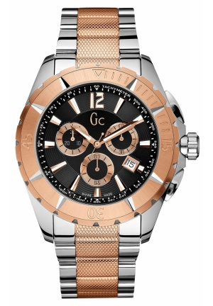 GC Men's Chronograph Sport Class XXL Two Tone Stainless Steel Bracelet 46MM