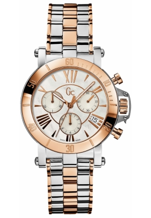Gc Swiss Made Timepieces Watch, Women's Chronograph Femme Two Tone Stainless Steel Bracelet 38mm