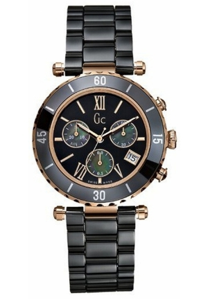 GC Women's Chronograph Diver Chic Black Ceramic Bracelet 44mm