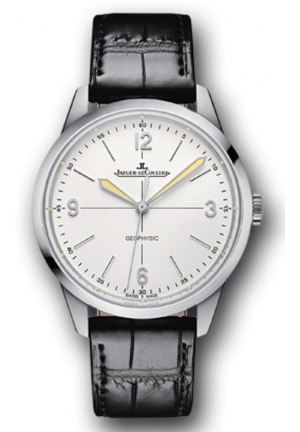 Geophysic Automatic White Dial Black Leather Mens Watch 38.5