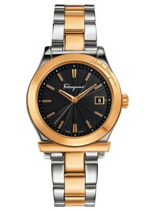 Gold IP Coated And Stainless-steel Date Watch 33mm
