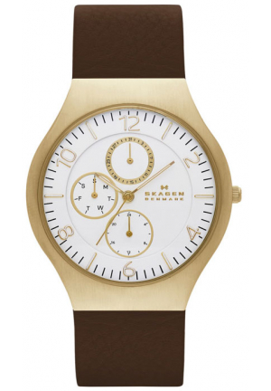GRENEN LEATHER MULTIFUNCTION WATCH 41MM