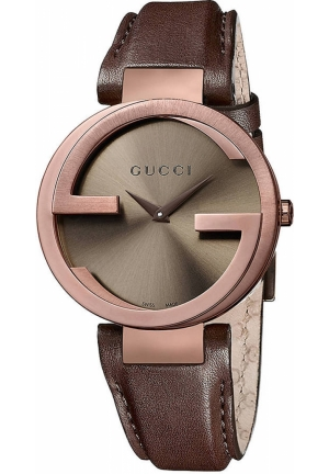 GUCCI GUCCI Interlocking Ladies G Watch Leather Strap 37mm