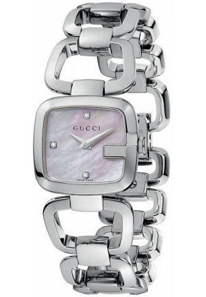 Gucci Women's G-Gucci Small Diamond MOP Dial Steel Watch 24mm
