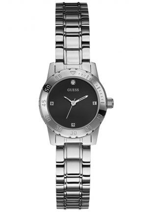 GUESS Diamond Accent Silver-Tone Bracelet Watch 27mm