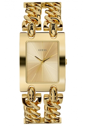 GUESS Gold-Tone Double Link Bracelet 37x29mm