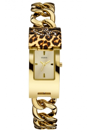 GUESS Gold-Tone Stainless Steel Link Bracelet Watch 42x19mm
