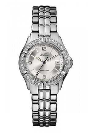 GUESS Guess Crytsal Stainless Steel Bracelet Watch 34mm