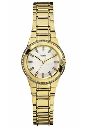 GUESS Watch, Women's Gold Tone Stainless Steel Bracelet 29mm