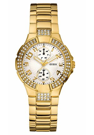 GUESS Watch, Women's Goldtone Stainless Steel Bracelet 36mm