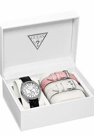 Guess Women's Leather Quartz Watch with White Dial 36mm