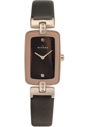 Skagen Women's  Brown Leather Quartz Watch