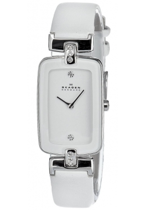 Skagen Women's Quartz Stainless Steel White Dial Watch