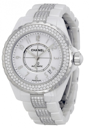 J12 DIAMONDS AND CERAMIC AUTOMATIC UNISEX H1422, 38MM