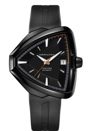 Hamilton Ventura Elvis80 Automatic Black Dial Black PVD Men's Watch H24585331