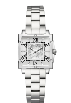 HAMILTON SQUARE LADY QUARTZ H32291114 29 x 29 mm