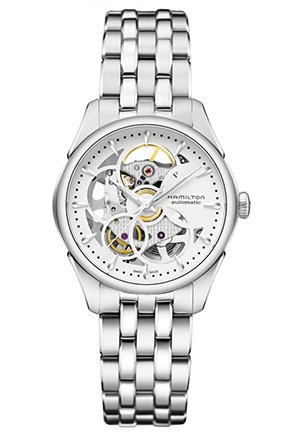 Automatic Skeleton Dial Stainless Steel Ladies Watch H32405111