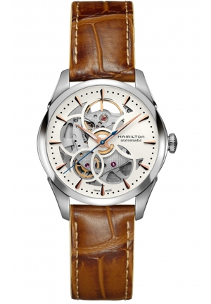 JAZZMASTER VIEWMATIC SKELETON STAINLESS AUTOMATIC LADY WATCH H32405551, 36MM
