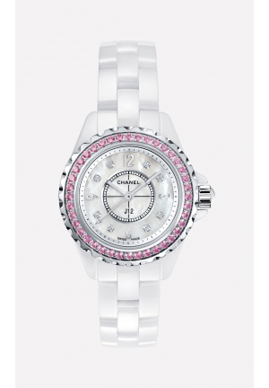 J12 WHITE MOTHER OF PEARL DIAMOND DIAL H3243 ,29MM