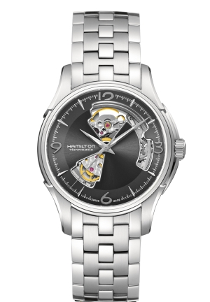 JAZZMASTER OPEN HEART STAINLESS STEEL MEN'S WATCH H32565185, 40MM