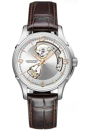 Hamilton Mens Jazzmaster Open Heart Watch 40mm H32565555