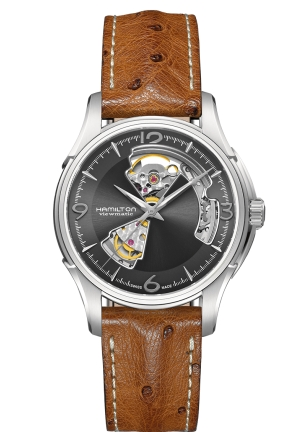 JAZZMASTER OPEN HEART STAINLESS STEEL MEN'S WATCH H32565585, 40MM