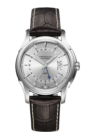 JAZZMASTER TRAVELLER GMT AUTO STAINLESS AUTOMATIC MEN'S WATCH H32585551, 42MM