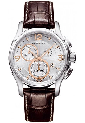 Hamilton Men's Jazzmaster Chronograph Silver Dial Watch 42mm H32612555