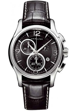 Hamilton Men's Jazzmaster Black Chronograph Dial Watch 42mm H32612735