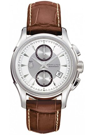 Hamilton Men's Jazzmaster Auto Chrono Silver Dial Watch 41.4mm H32616553