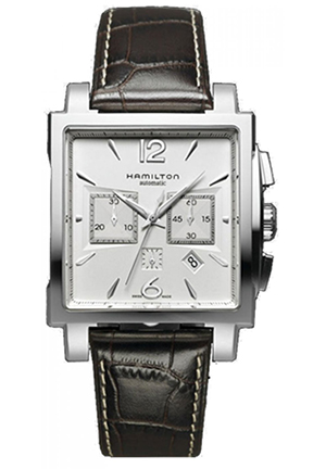 Jazzmaster Square Silver Dial Watch 40.5mm H32666555