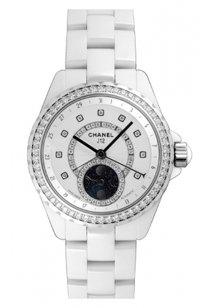 L J12 BLANCHE MOONPHASE WATCH SET OF DIAMONDS H3405, 38MM