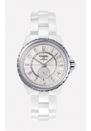J12 WHITE CERAMIC DIAMOND AUTOMATIC UNISEX H3841, 36.5MM