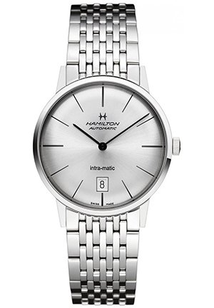 Hamilton Intra-Matic Silver Dial Mens Watch H38455151 38mm