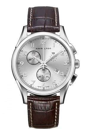 Hamilton Men's Jazzmaster Silver Dial Watch 43mm H38612553