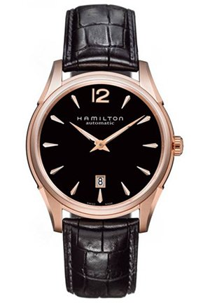 Hamilton Men's Jazzmaster Slim Black Dial Watch 43mm H38645735