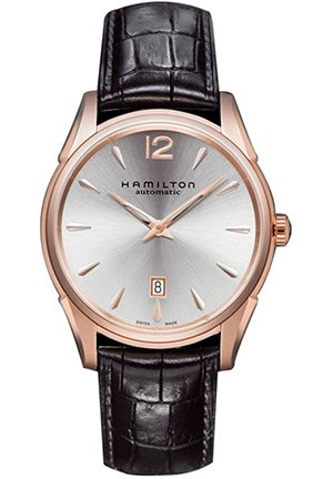 Hamilton Men's Jazzmaster Slim Silver Dial Watch 43mm H38645755