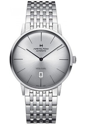 Hamilton Intra-Matic Untra-slim Automatic Silver Dial Mens Watch 42mm H38755151