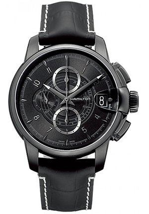 Hamilton Men's Rail Road Black Chronograph Dial Watch H40686335 46mm